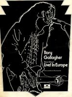 FRAMED ADVERT 15X10 RORY GALLEGHER : LIVE! IN EUROPE ALBUM