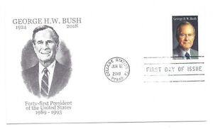 5393 George H. W. Bush Panda Cachets, FDC