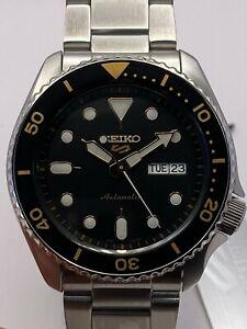 Seiko 5 Sports Mens Automatic Black Dial Stainless-Steel bracelet Watch SRPD57K1