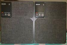 A PAIR of PHILIPS 22RH541/89R 22 RH 541 Vintage MFB Speakers