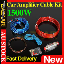 1500W Car Subwoofer Amplifier Fuse Wiring Kit Audio Sound Power Cable Wire AUS