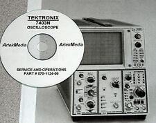Tektronix 7403N Oscilloscope Ops & Service Manual