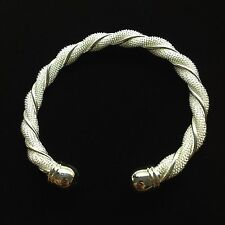 Sterling Silver Bracelet Braided Style