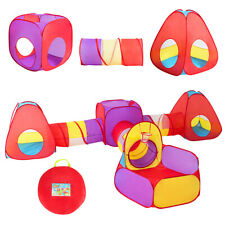 7pc Kids Ball Pit Play Tents & Tunnels Pop Up Baby Toy Gifts Indoor Outdoor