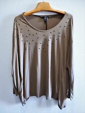 Womens Size XL Clothes Gold O Ring Studded Brown Poncho Tunic/Shirt NWT Rain