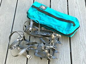 Vintage Charlet Moser S12 Articule Mountaineering 12-point Crampon Strap Fit All