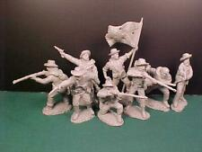 "Tssd01A ""Acw Confederate Firing Line (Gray)"" 54mm Plastic Toy Soldiers"