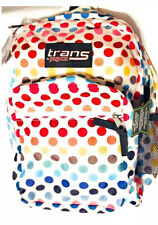 "NEW Trans by JanSport 17"" SuperMax Backpack w/ 15"" Laptop Sleeve - Rainbow Dot"