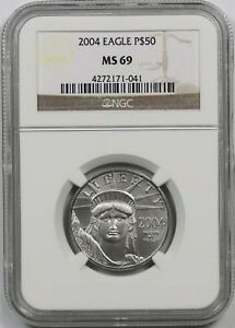 2004 Platinum Eagle $50 Half-Ounce MS 69 NGC 1/2 oz Platinum .9995