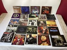 Lot of 24 Metal Hard Rock Punk CD INSERTS ONLY Decent Condition Signs of Wear