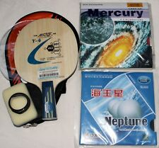 Penhold Galaxy Carbon Allround Long-Pips + Pips-in Custom-made Table Tennis Bat