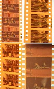35MM COLOR MOVIE NEGS OF EXTRA CLIPS FROM UNKNOWN MOVIE, 1970S