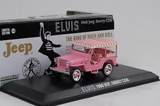 1960 JEEP SURREY cj3b ELVIS PRESLEY ROSA 1:43 Greenlight