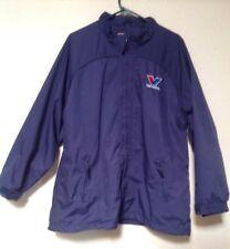 Vintage Outer Boundary Navy Blue Mens 2XL Valvoline Jacket Coat Windbreaker