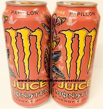 Deux Boîtes De Monstre PAPILLON RARE American jus de fruits caféine ENERGY DRINK