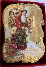 Punch Studio OLD WORLD SANTA CHRISTMAS CARDS. Box10.  GORGEOUS!