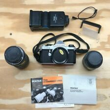 Pentax ME Super 35mm Film Camera with 2 lenses - Very Good Condition