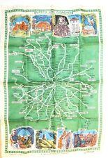 Blackstaff Irish Linen Tea Towel - Green Line Coaches Map of London Area