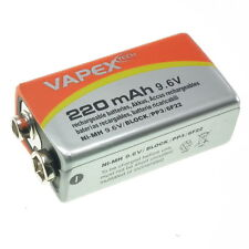 9.6V PP3 220mAh rechargeable NiMH battery (replacement for 9V) Vapex-Tech