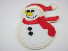 """Christmas Snowman Iron On Patches Appliques 55mm (3 1/4"""") Xmas Clothing Crafts"""
