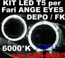 N°20 LED T5 SMD BIANCO 6000K  CANBUS per Fari ANGEL EYES DEPO FK WHITE no error