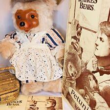 Robert Raikes Bear Petunia Limited Edition Box COA Tag 247/250 Rare Club