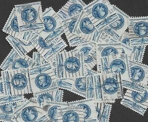 Postage Stamps For Crafting: 1960 4c Thomas Masaryk; Blue; 50 Copies