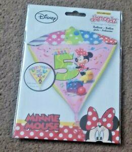 Anagram dimondz 5th birthday Minnie girl balloon suitable for helium or air fill