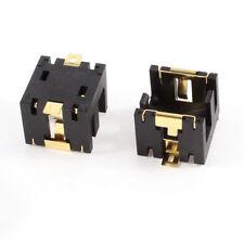 2pcs Black Plastic Cell Button Lithium Batteries Socket Holder for 2 X Ag13/lr44