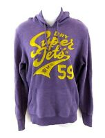 SUPERDRY Womens Hoodie Jumper M Medium Purple Cotton & Polyester