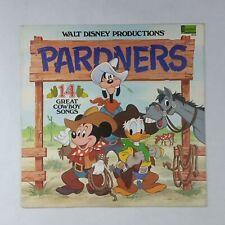 WALT DISNEY Pardners Cowboy Songs 2512 LP Vinyl VG Cover VG+ WoC