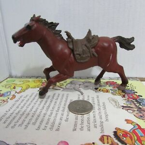 Papo 1999 Brown Horse Figure with attached saddle