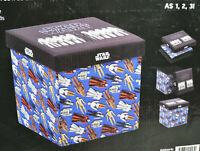 STAR WARS Storage Ottoman Folding Bin Box Featuring Vintage Action Figures Toys