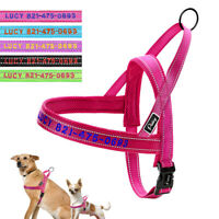 Personalised Embroidered Pet Dog Harness Mesh Walking Vest Small Medium Large