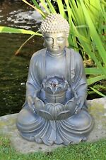 Buddha Water Feature Fountain Indoor Ornament Decoration Outdoor LED Bronze 40cm