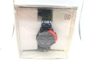 NEW Fossil Men's Q Machine Hybrid Smartwatch Stainless Steel Watch black