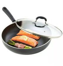 VonShef Saute Pan with Lid 28cm Non-Stick Sauté Aluminium Induction Frying