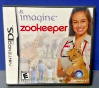 Imagine Zookeeper  - Nintendo DS DS Lite 3DS 2DS Game Complete + Tested