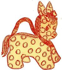 Vintage Embroidery Transfer repo 81 Donkey purse pattern 4 animals flowers quilt