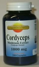 Cordyceps Sinensis Mushroom  1000 mg/Serving  200 Capsules  Fresh!
