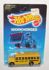 Vintage 1989 Hot Wheels Car School Bus Workhorses Yellow Bw Moc
