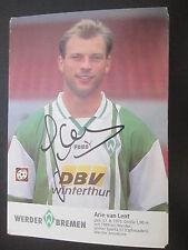 25117 Arie van Lent Werder Bremen 90er original signierte Autogrammkarte