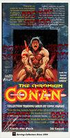 1993 Comic Images Conan Series 1 Chromium Trading Card Factory Box(36 pks) x 3