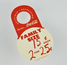 Schöner alter Coca-Cola Flaschen Anhänger Coupon USA 1960er Bottle Hanger 15c