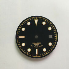 30.5mm black luminous Watch Dial Golden mark with white Fit 2824 2836 Movement
