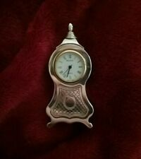 Bulova Miniature Collectible Clock B0507 Acorn Shape