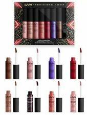 Nyx Professional Makeup Soft Matte Lip Cream 8 Pc Vault w/ Metallic Colors -Nib