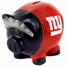 "1 New York Giants Large 7"" X 8"" X 6"" Pig Leaguers Thermatic Piggy Bank"