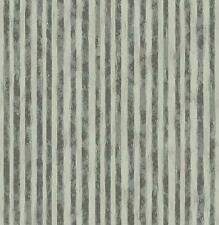 Wallpaper Designer Dark Gray and Shiny Silver on Light Gray Mini Abstract Stripe