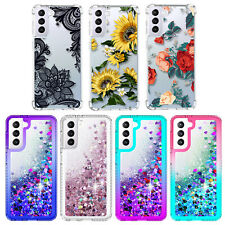 For Samsung Galaxy S21 Ultra Plus/S20 FE 5G Phone Case Bling Liquid Luxury Cover